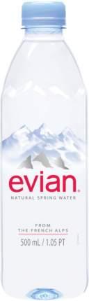 Вода минеральная Evian негазированная пластик 0.5 л