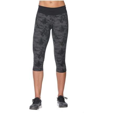 Тайтсы женские Asics Tiger Fuzex Knee черные/серые, 40-42 RU