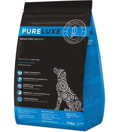 Сухой корм для собак PureLuxe, все породы, беззерновой, индейка, 1,81 кг