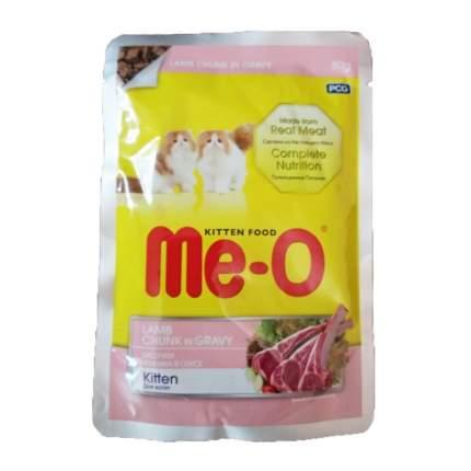 Влажный корм для котят Me-O, кусочки ягненка в соусе, 12шт по 80г