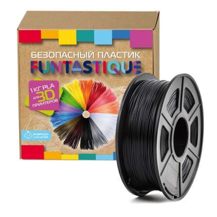 Пластик для 3D-принтера Funtastique PLA-1KG-BK PLA Black