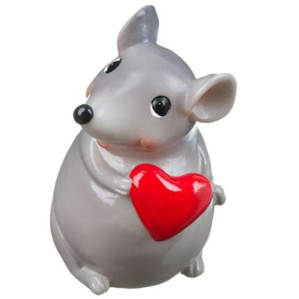н.г.символ года мышка с сердечком фигурка 6,5*7*9,5см