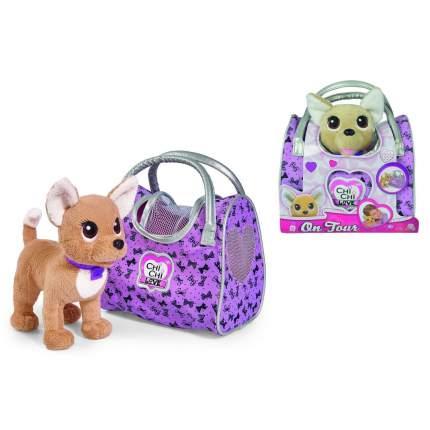 Мягкая игрушка CHI CHI LOVE 5893124129 Собачка Путешественница с сумкой-переноской