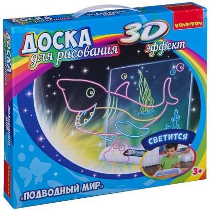 """Обучающие игры Bondibon """"Доска для рисования с 3D эффектом. Подводный мир"""""""