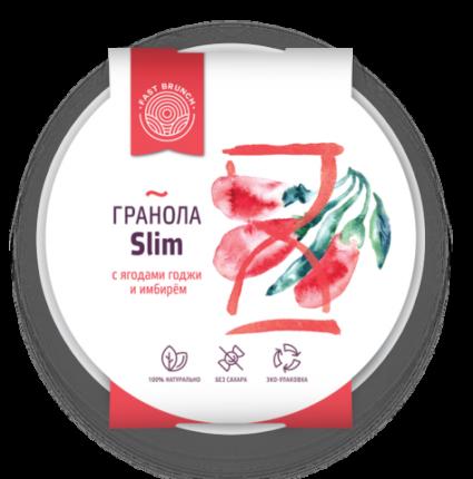 Гранола Fastbrunch с ягодами годжи и имбирем Slim в биоразлагаемой тарелке 80 г
