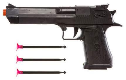 Оружие пистолет с присосками 3шт, РАС 23х13х3 см, арт.605-1.