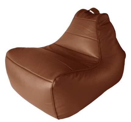 Бескаркасное кресло Папа Пуф Modern Lounger one size, экокожа, Lounger Brown (коричневый)