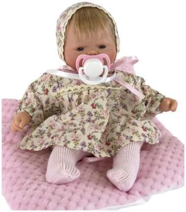 Пупс Nines d'Onil Малышка в чепчике, с подушкой вид 1