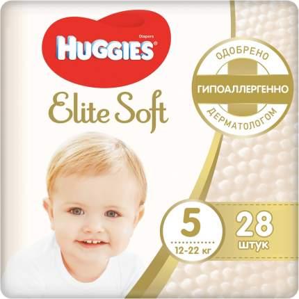 Подгузники huggies elite soft размер 5, 12-22 кг, 28 шт.