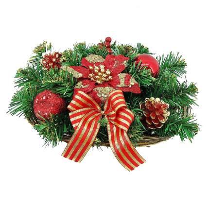 Декорация новогодняя Mister Christmas Корзина хвойная 1 шт 30 см