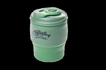 Кружка силиконовая складная Tramp TRC-082 темно-зеленая/оливковая 350 мл