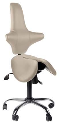 Двойное кресло-седло со спинкой EZDuo Back (цвет обивки: бежевый)
