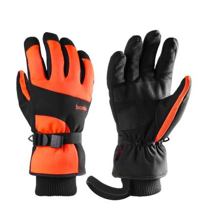 Зимние перчатки для сноуборда Boodun Black Orang, S