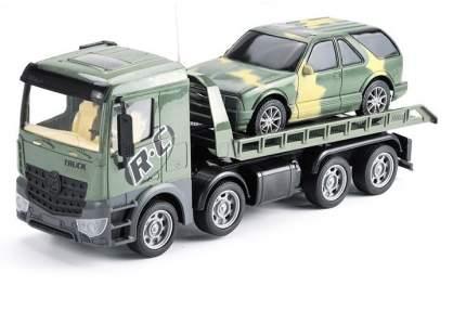 Радиоуправляемый грузовик-трейлер с джипом Zhoule Toys  CityTruck 553-B4