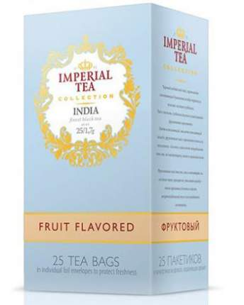Чай черный фруктовый Imperial tea collection India Fruit Flavored 25 пакетиков