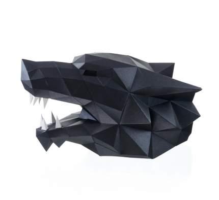 Полигональная фигура PAPERRAZ Маска Волк(черная)