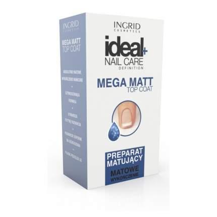 Верхнее матовое покрытие для ногтей INGRID Mega matt top coat