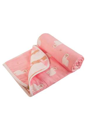 Плед Сонный гномик МамаЛама розовый