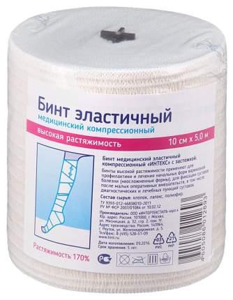 Бинт эластичный PL высокорастяжимый с застежками 5 м х 10 см