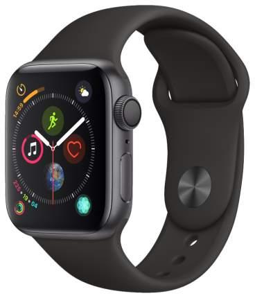 Смарт-часы Apple Watch Series 4 40mm Space Gray Al/Black Sport Band (MU662RU/A)