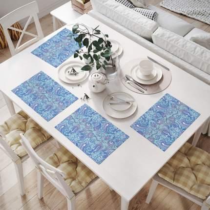 Салфетки для сервировки (4 шт.) «Зимние краски»  32x46 см JoyArty np_8318