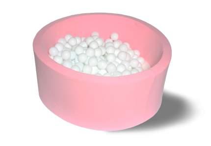 Сухой игровой бассейн Розовый снег 40см с 200 шарами: белый