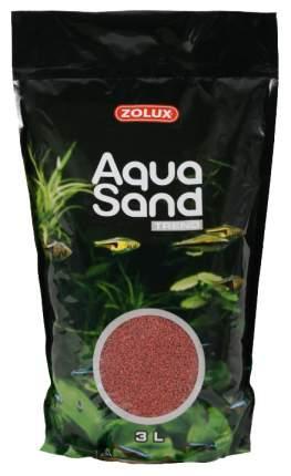 Песок Zolux Aquasand Trend Basque Red для аквариума, красно-коричневый (3 л (4,72 кг))
