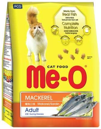 Сухой корм для кошек Me-O Adult, скумбрия, 1,2кг