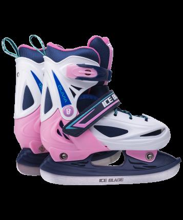 Коньки прогулочные Ice Blade Olivia розовые/белые/синие/зеленые, 38-41