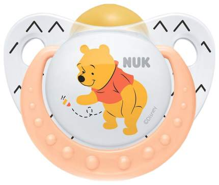 Соска-пустышка латексная Nuk trendline дисней 2/6 оранжевый