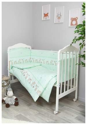 Детское постельное белье Сонный Гномик Оленята салатовый