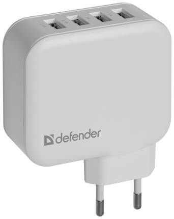 Сетевое зарядное устройство Defender UPA-60 4 USB 6,2A White
