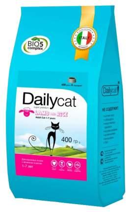 Сухой корм для кошек Dailycat Adult, ягненок и рис, 10кг