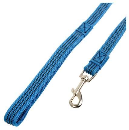 Поводок для собак Зооник капроновый с латексной нитью 3м* 20мм Синий