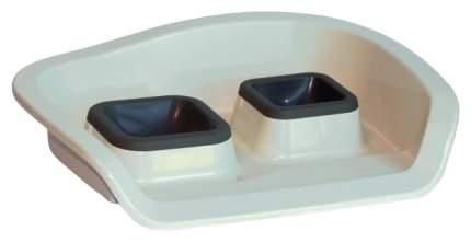 Подставка под миску MP-Berganmo с мисками NEMBO 0,25+0,3 л 48х38х12 см