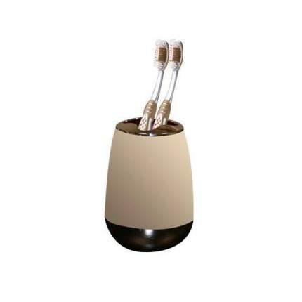 Стакан для зубных щеток с каучуковым покрытием  пластиковый  Цвет Ваниль