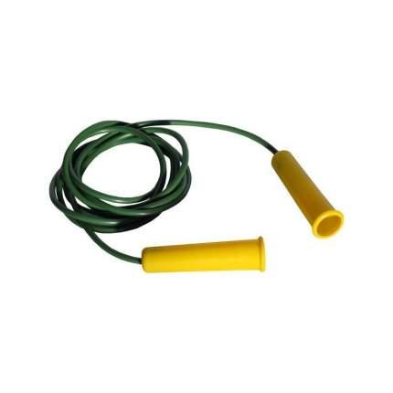 Скакалка гимнастическая желто-зеленая 300 см