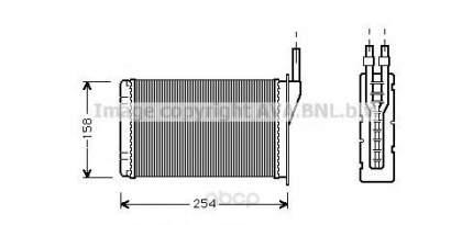 Радиатор охлаждения двигателя Ava RT6087