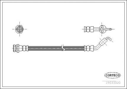 Шланг тормозной системы CORTECO 19033020