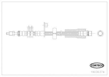 Шланг тормозной системы CORTECO 19036374
