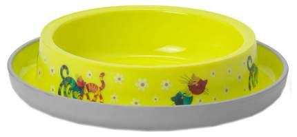 Одинарная миска для кошек MODERNA, пластик, желтый, 0.21 л