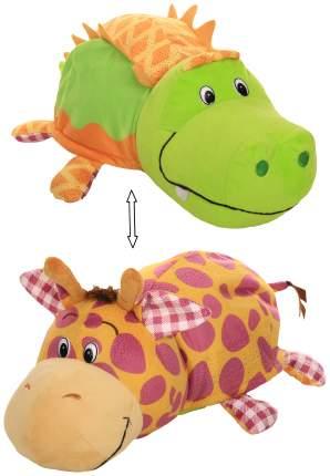 Игрушка-вывернушка 1 TOY Ням-Ням Крокодильчик-Жираф Яблочный пирог-Арахисовая паста 35 см