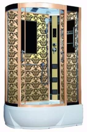 Душевая кабина Niagara Lux NG-7712GR 120x80x215, золото с узором