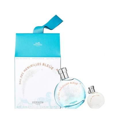 Парфюмерный набор Hermes Eau des Merveilles Bleue Set 50+7,5 мл