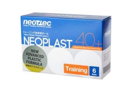 Мячи для настольного тенниса Neottec Neoplast Training Ball Generation белые, 6 шт.