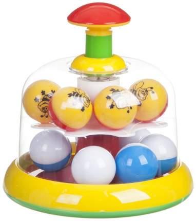 Развивающая игрушка STELLAR Юла с шариками желтый Р62305
