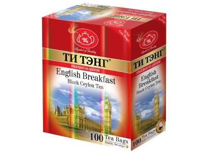 Чай черный в пакетиках для чашки Ти Тэнг English Breakfast 100*2.5 г