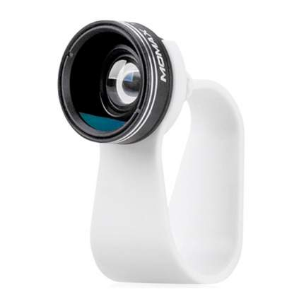 Объектив для смартфона MoMax 2 in 1 Universal ClipOn Lens White