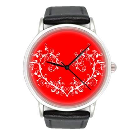 Наручные часы кварцевые женские Kawaii Factory Красное сердце KW095-000519