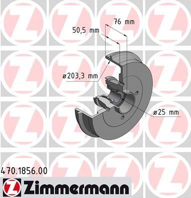 Тормозной барабан ZIMMERMANN 470.1856.00